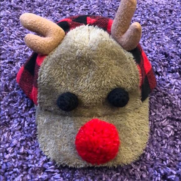 Other - Adorable Baby Boy Reindeer Baseball Cap Sz 12-18M